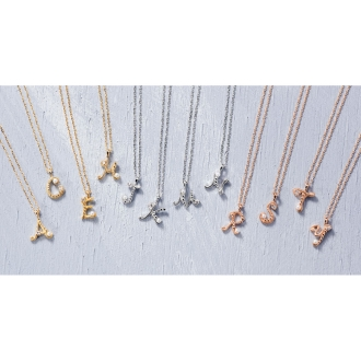 K10鑽石種子純銀珍珠項鍊