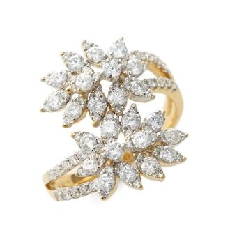 K18鑽石花設計戒指