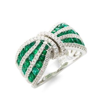 K18WG鑽石翡翠戒指設計