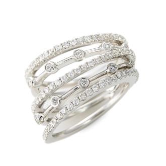 K18WG鑽石戒指線