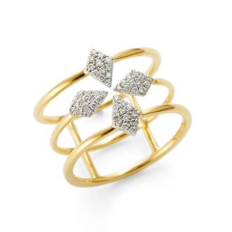 K18的鑽石戒指設計