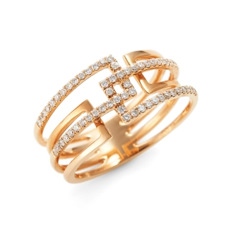 K18PG钻石戒指设计