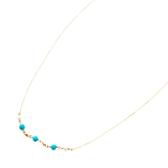 K10 fresh water pearl, turquoise design necklace