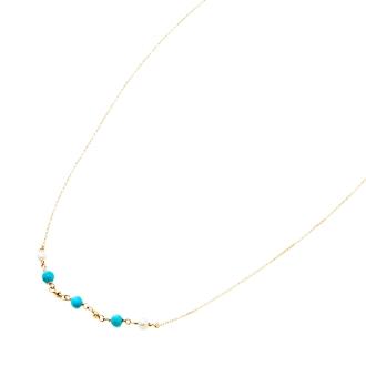 K10淡水珍珠,綠松石項鍊設計