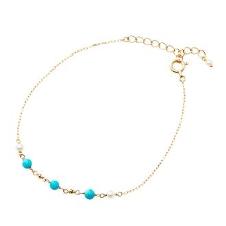 K10淡水珍珠,綠松石手鍊設計