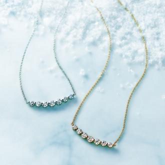 K18 0.7ctダイヤ デザイン ネックレス