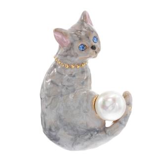 VENDOME BOUTIQUE/ヴァンドームブティック 猫 ブローチ