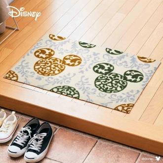 玄関マット Mickey/ミッキー ロココ調 50×75cm[Disney/ディズニー]