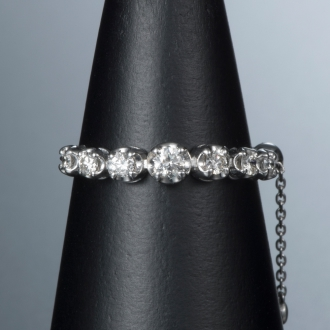 K18WGラインダイヤ フリーサイズリング 0.25ctホワイトゴールド120