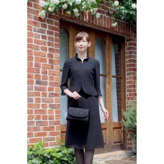 【東京ソワール】ブラックフォーマル アンサンブル風ワンピース 喪服・礼服・ブラックフォーマルブラック17