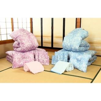 西川リビングの決算寝具セット(シングル7点)・通常お届けピンク