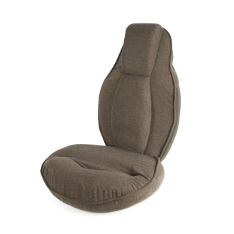 スリム座椅子 ピラトレブラウン