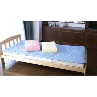ひんやり除湿寝具 デオアイス 敷きパッド (セミダブル)ブルー